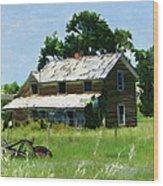Lost In Wyoming II Wood Print