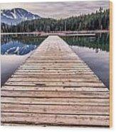 Lost Lake Dock Wood Print