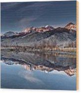 Lost River Mountains Winter Reflection Wood Print