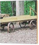 Lost Sea's Old Wagon Wood Print