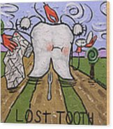 Lost Tooth Wood Print by Anthony Falbo