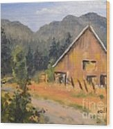 Lost Valley Barn Wood Print