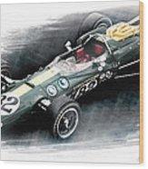 Lotus 38 Wood Print by Peter Chilelli