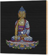 Lotus Buddha Wood Print by Tim Gainey