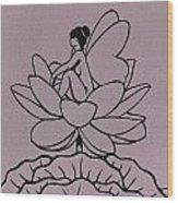 Lotus Fairy Wood Print