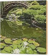 Lotus Garden - Japanese Garden At The Huntington Library. Wood Print