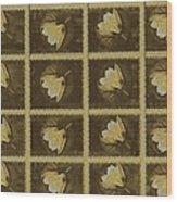 Lotus In 16 Bits Wood Print