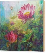 Lotus Light Wood Print