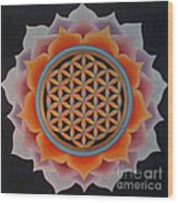 Lotus Of Life Wood Print