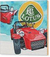 Lotus Seven Wood Print