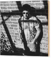 Lou 1980 Wood Print