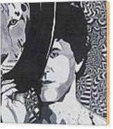 Lou Reed In Pools Wood Print