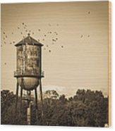 Loudon Water Tower Wood Print