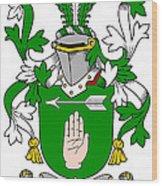 Loughnan Coat Of Arms Irish Wood Print