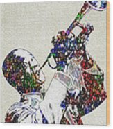 Louie Armstrong 2 Wood Print by Jack Zulli