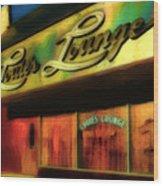 Louie's Lounge Wood Print