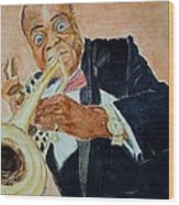 Louis Armstrong 1 Wood Print