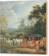 Louis Xiv In His State Coach Wood Print