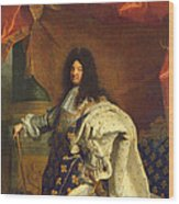 Louis Xiv In Royal Costume, 1701 Oil On Canvas Detail Of 59867 Wood Print