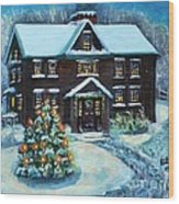 Louisa May Alcott's Christmas Wood Print