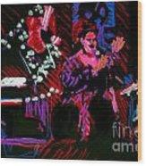 Louise At Jazz Corner Wood Print