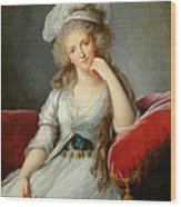 Louise-marie Adelaide, Duchesse Dorleans Oil On Canvas See Also 91622 Wood Print