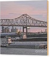 Louisiana Baton Rouge River Commerce Wood Print