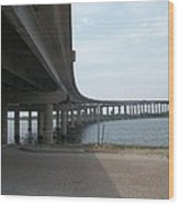 Louisiana Bridge Wood Print