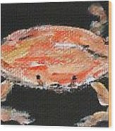 Louisiana Crab Wood Print by Katie Spicuzza