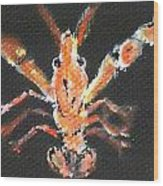 Louisiana Crawfish Wood Print by Katie Spicuzza