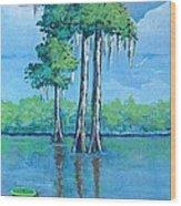 Louisiana Cypress Wood Print