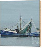 Louisiana Shrimp Trawler Wood Print by Bradford Martin