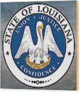 Louisiana State Seal Wood Print