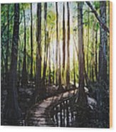 Louisiana Wildlife Throughway Wood Print