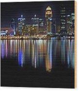 Louisville Kentucky Skyline Wood Print