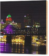Louisville Skyline Wood Print