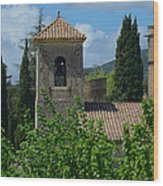 Lourmarin Castle In Provence Wood Print