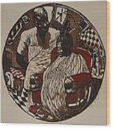 Lou's Barbershop Wood Print