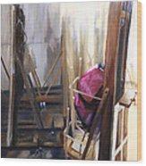 Louvre Closet Wood Print