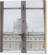 Louvre Museum Viewed Through A Window Wood Print