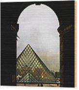 Louvre Paris Wood Print
