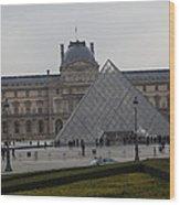 Louvre - Paris France - 01138 Wood Print by DC Photographer