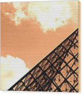 Louvre Pyramid Top Edited Wood Print