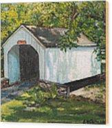 Loux Covered Bridge Bucks County Pa Wood Print