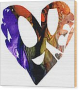 Love 1 - Heart Hearts Romantic Art Wood Print