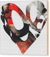 Love 18- Heart Hearts Romantic Art Wood Print
