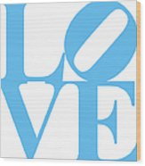 Love 20130707 Blue White Wood Print by Wingsdomain Art and Photography