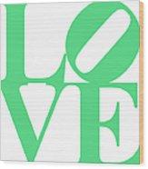 Love 20130707 Green White Wood Print