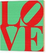 Love 20130707 Red Green Wood Print