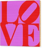 Love 20130707 Red Violet Wood Print